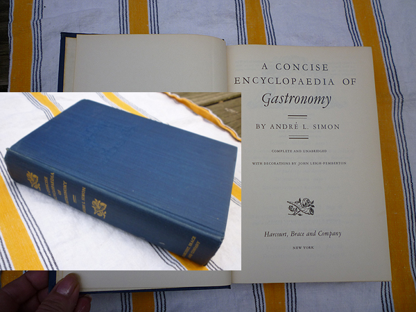 A Concise Encyclopaedia of Gastronomy - Collected 1st. ed (1952)