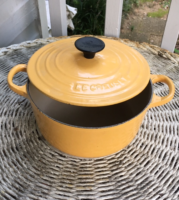 Pristine Round Yellow Le Creuset French Oven